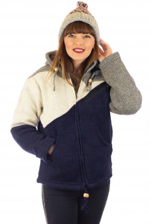 Jacheta de lana - Zig Zag0