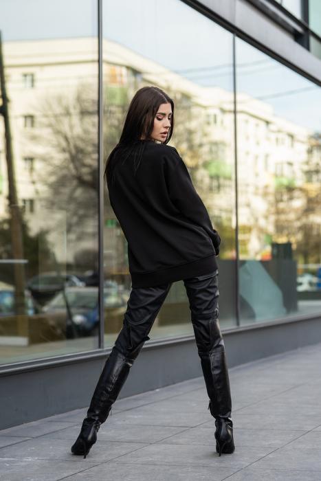 Bluza Imprimata Oversized Easy-Fit Black [2]