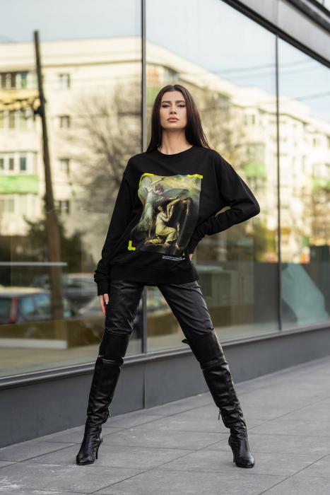 Bluza Imprimata Oversized Easy-Fit Black [1]