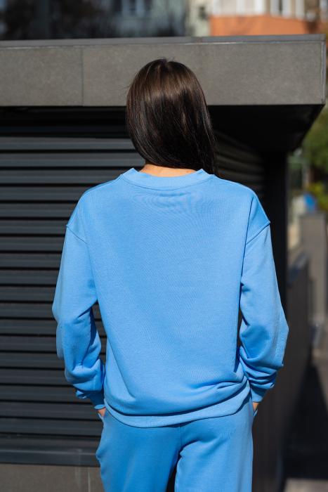Bluza Easy-Fit Oversized Aqua Blue [3]