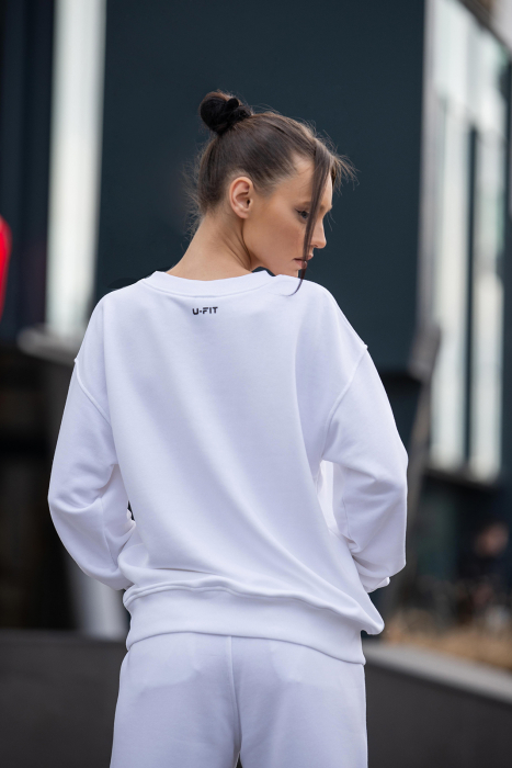 Bluza Oversized Easy-Fit Off White [2]
