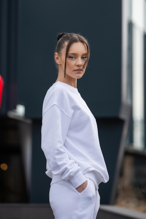 Bluza Oversized Easy-Fit Off White [1]