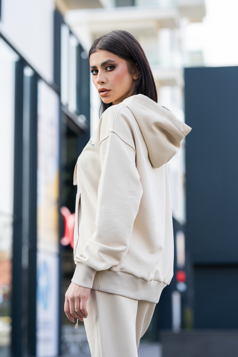 Hanorac Oversized Easy-Fit Light beige [1]