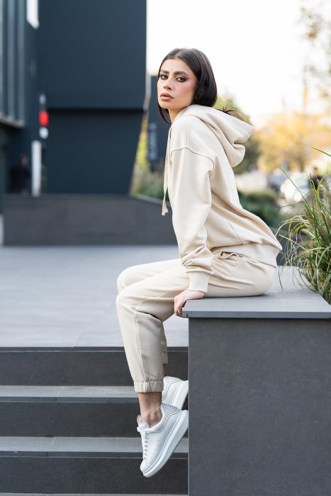 Hanorac Oversized Easy-Fit Light beige [3]