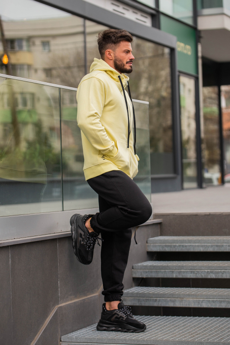 Set Rock-Fit hanorac si pantalon lejer galben/negru [2]