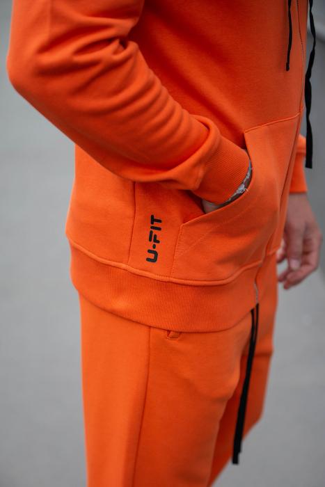 Set Rock-Fit hanorac si pantalon lejer portocaliu [5]