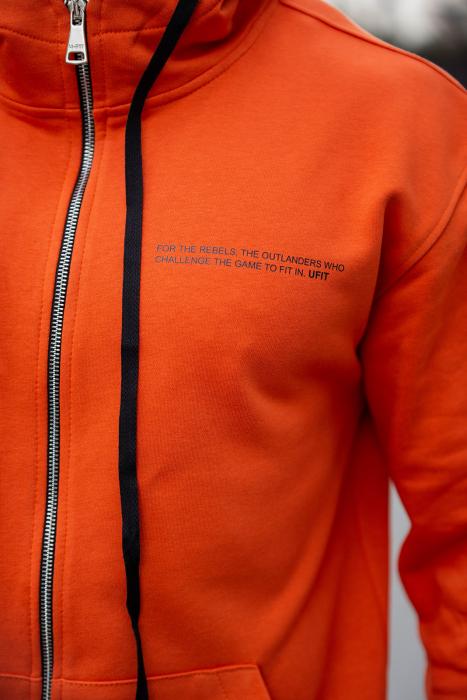 Set Rock-Fit hanorac si pantalon lejer portocaliu [4]