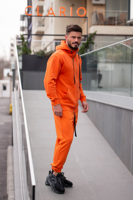 Set Rock-Fit hanorac si pantalon lejer portocaliu [1]