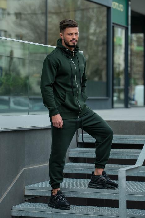 Set Rock-Fit hanorac si pantalon lejer dark green [2]