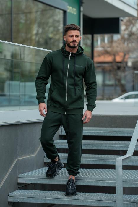 Set Rock-Fit hanorac si pantalon lejer dark green [1]