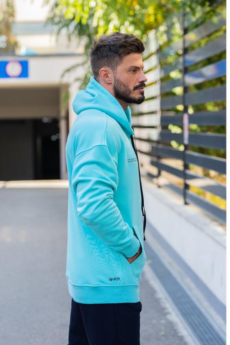 Hanorac Oversized Easy-Fit bleu [1]