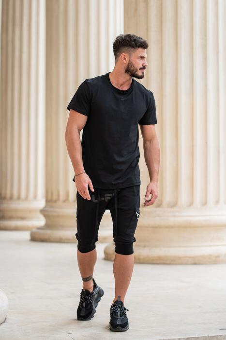 Pantalon Scurt Cargo cu turul lasat Black [6]