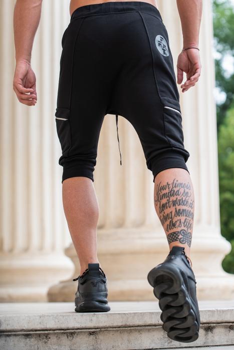 Pantalon Scurt Cargo cu turul lasat Black [2]