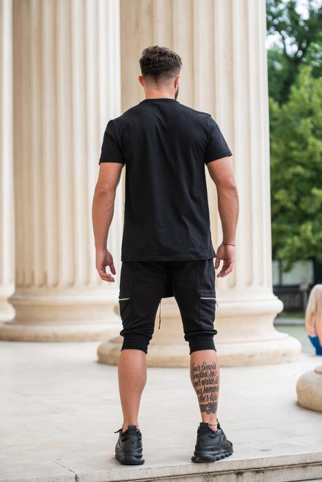 Pantalon Scurt Cargo cu turul lasat Black [7]