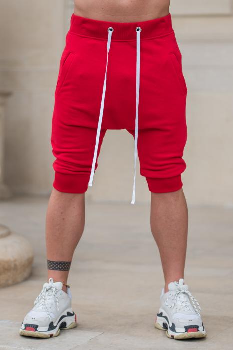 Pantalon Scrut cu turul lasat rosu [0]