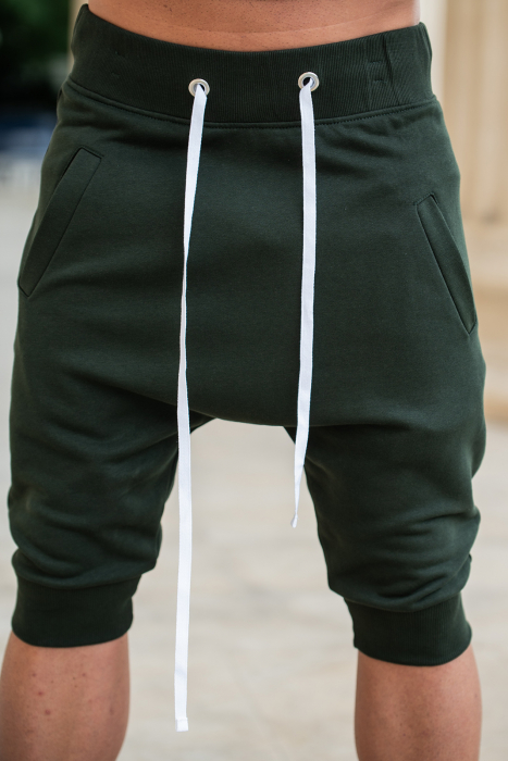 Pantalon scurt cu tur lasat Dark Green [5]