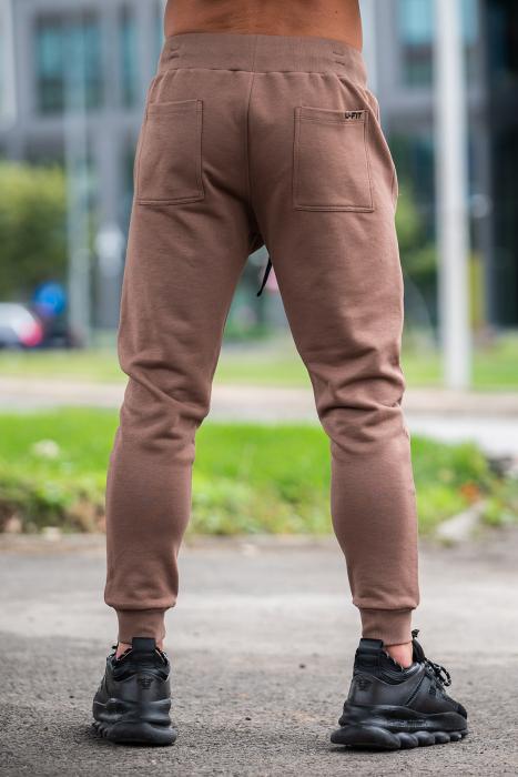 Pantalon Conic cu tur lasat Brown [2]