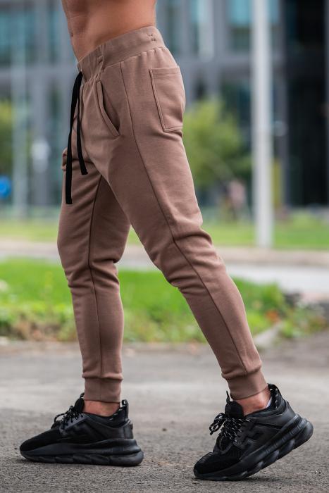 Pantalon Conic cu tur lasat Brown [1]