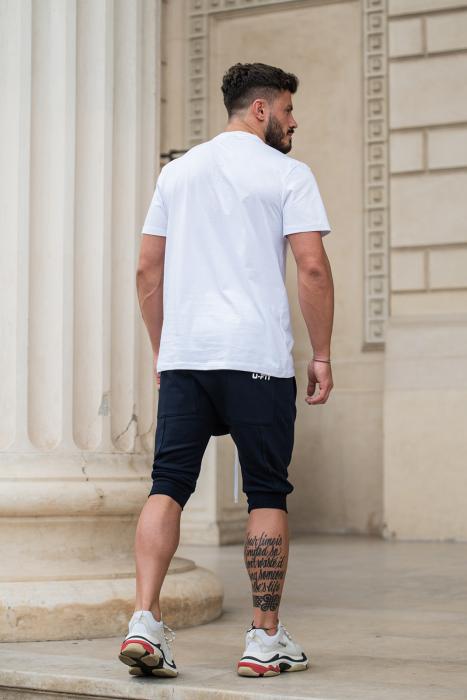 Pantalon Scurt cu turul lasat bleumarin [7]
