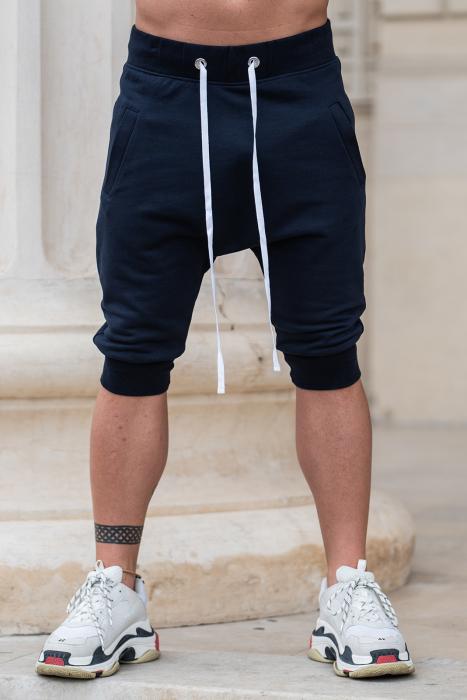 Pantalon Scurt cu turul lasat bleumarin [0]