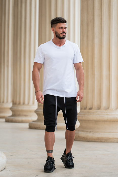 Pantalon scurt cu turul lasat negru [7]