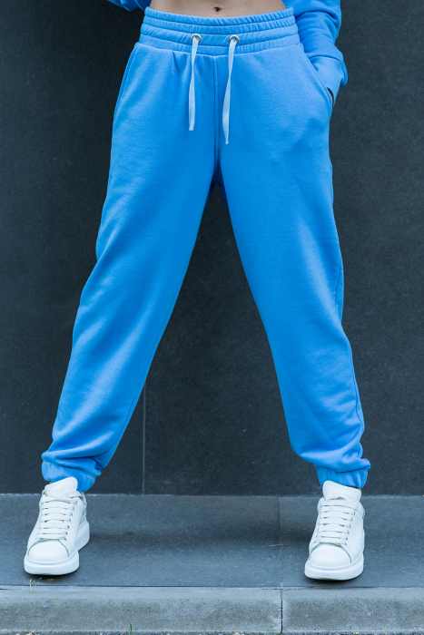 Pantalon Easy-Fit Oversized Aqua Blue [0]