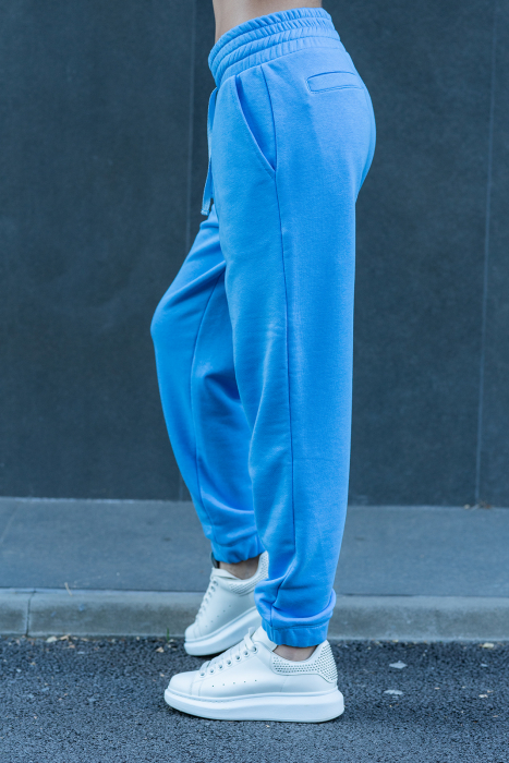 Pantalon Easy-Fit Oversized Aqua Blue [1]