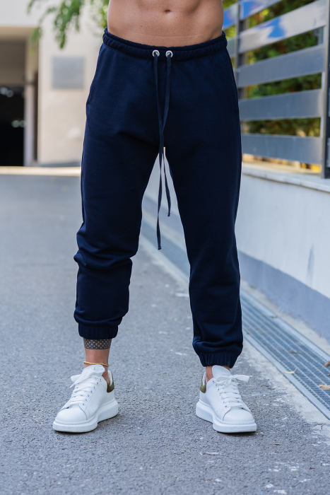 Pantalon lejer bleumarin [0]