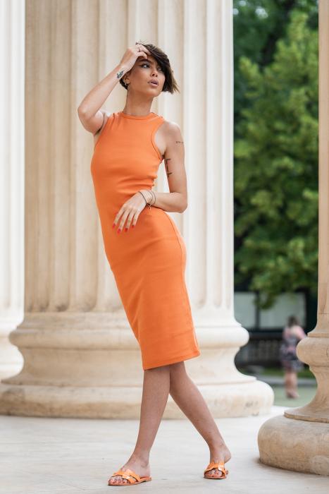 Rochie Hera Stramta Orange [1]