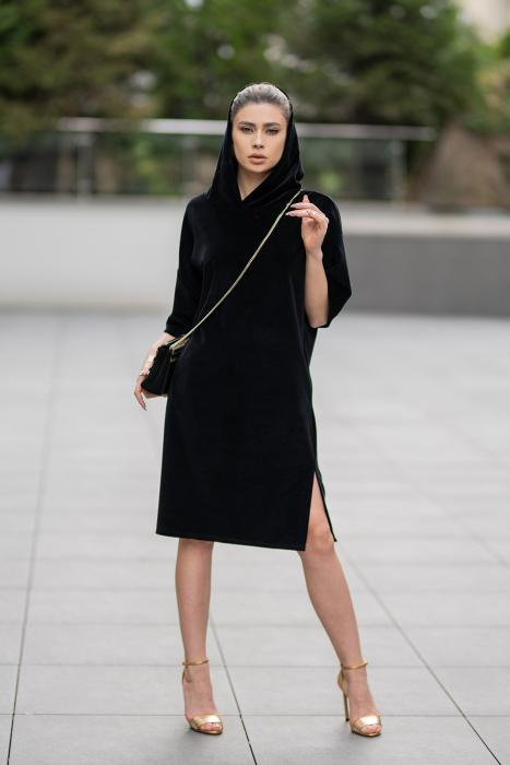 Rochie Catifea Velvet Wind Black [7]