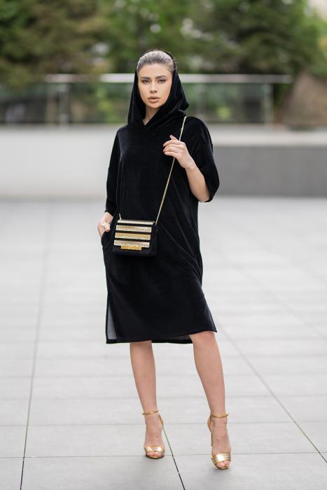 Rochie Catifea Velvet Wind Black [6]