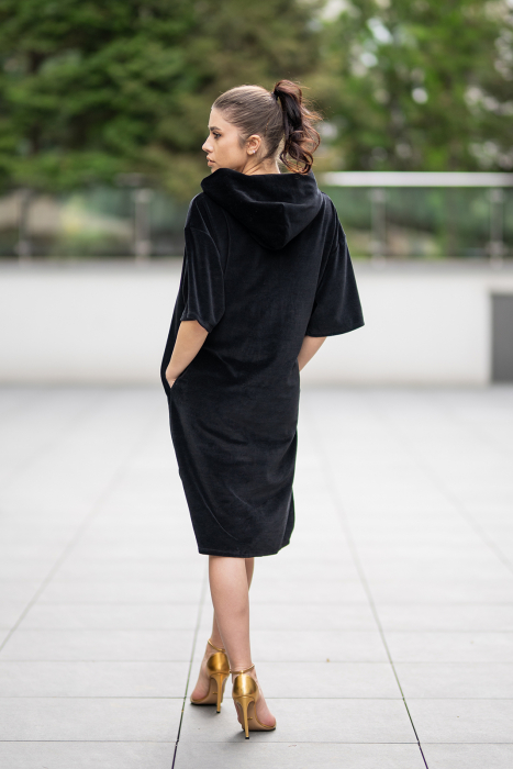Rochie Catifea Velvet Wind Black [4]