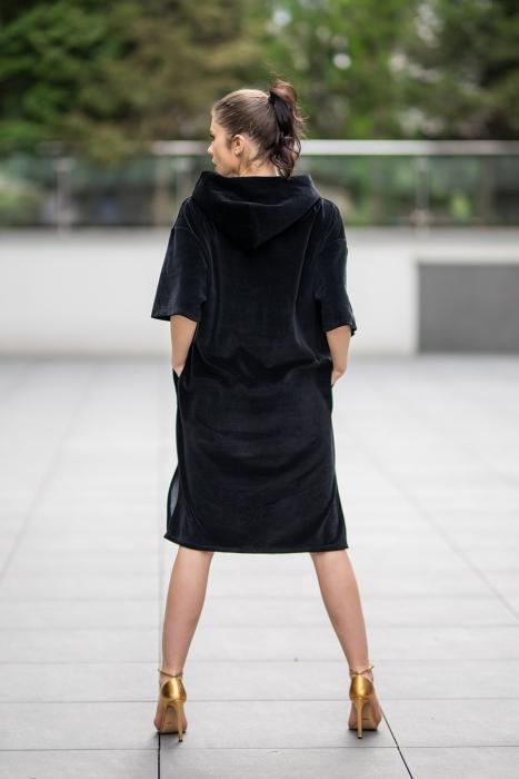 Rochie Catifea Velvet Wind Black [3]
