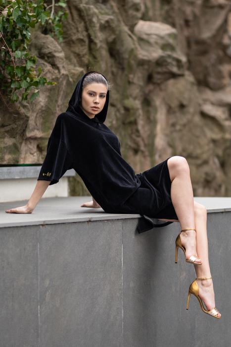 Rochie Catifea Velvet Wind Black [8]