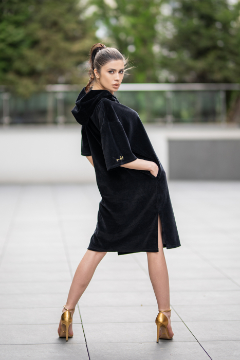 Rochie Catifea Velvet Wind Black [2]