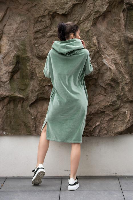 Rochie Catifea Velvet Wind Green Olive [2]