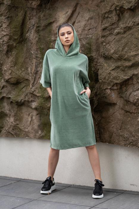 Rochie Catifea Velvet Wind Green Olive [3]