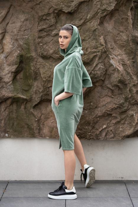 Rochie Catifea Velvet Wind Green Olive [0]
