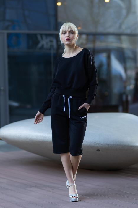 Set Undone Bluza si Pantalon Scurt Black [2]