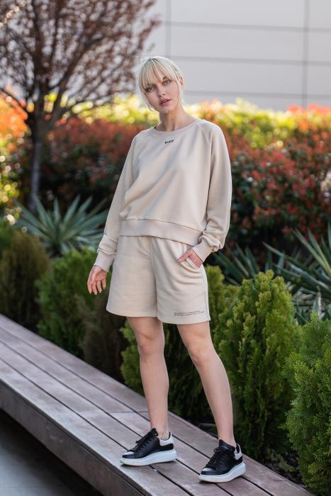 Set Elise Bluza si Pantalon Scurt Light Beige [0]