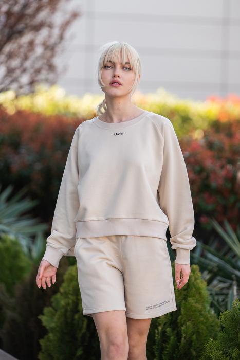 Set Elise Bluza si Pantalon Scurt Light Beige [1]