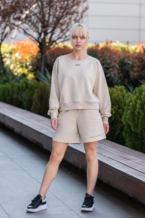 Set Elise Bluza si Pantalon Scurt Light Beige [3]