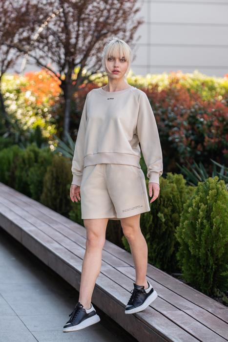 Set Elise Bluza si Pantalon Scurt Light Beige [2]