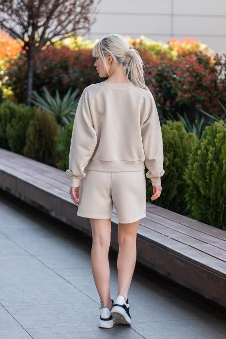 Set Elise Bluza si Pantalon Scurt Light Beige [5]