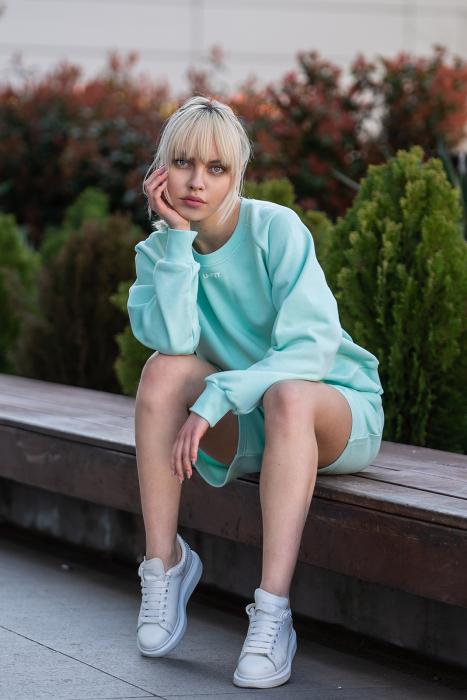 Set Elise Bluza si Pantalon Scurt Mint [5]
