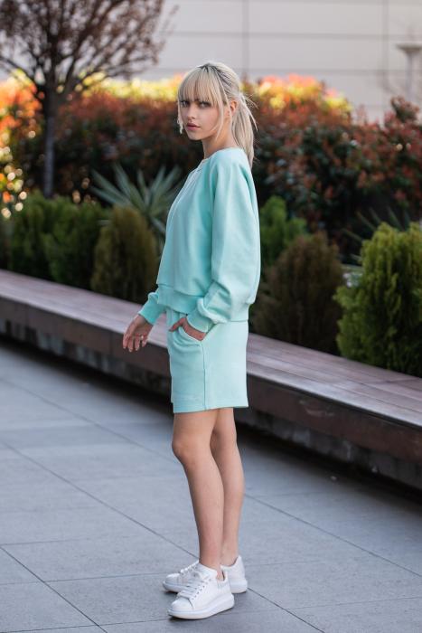 Set Elise Bluza si Pantalon Scurt Mint [3]