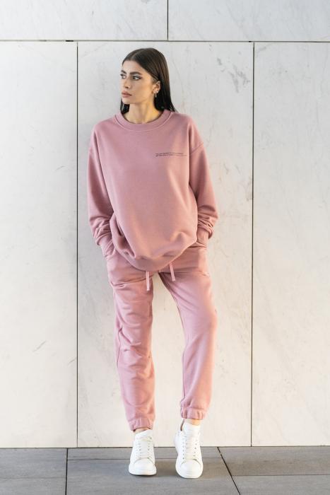 Set bluza si pantalon Oversized Easy-Fit Rose Quartz [0]