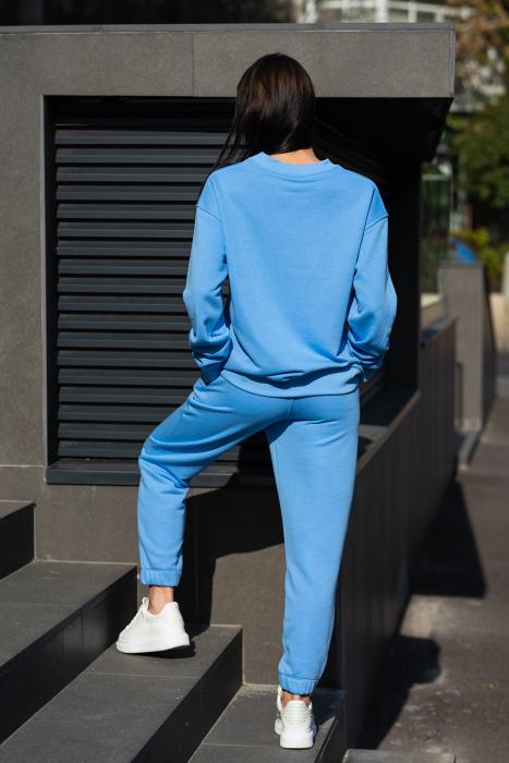 Set Easy-Fit bluza si pantalon Oversized  Aqua Blue [4]
