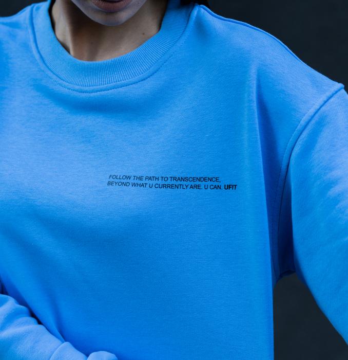 Set Easy-Fit bluza si pantalon Oversized  Aqua Blue [3]