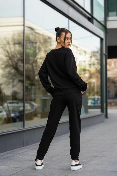 Set Easy-Fit bluza imprimata si pantalon Oversized Black [8]